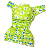 Green Daisies PUL Cloth Diaper