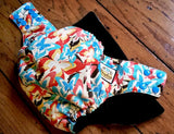 Retro Butterfly PUL Cloth Diaper