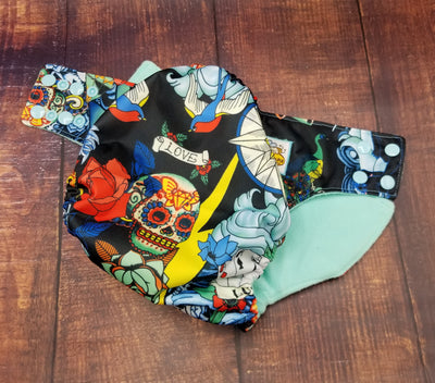 Tattoos PUL Cloth Diaper