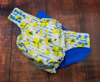 Lemon Stripe PUL Cloth Diaper