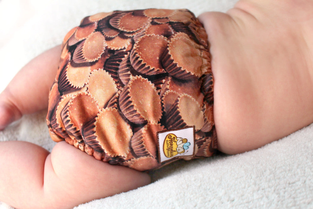 Peanut Butter Cups PUL Cloth Diaper