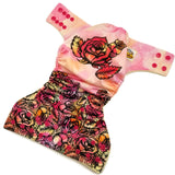 Pink Rose Tatt PUL Cloth Diaper