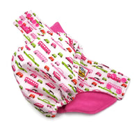 Retro Cars Pink PUL Cloth Diaper
