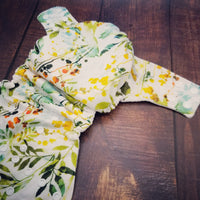 Watercolor Wildflowers PUL Cloth Diaper