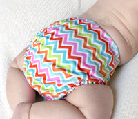 Multi Chevron PUL Cloth Diaper