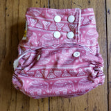 Tribal Elephants Henna PUL Cloth Diaper