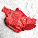 Copper Red Glitter PUL Cloth Diaper