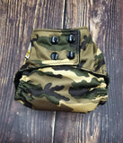 Camouflage Tan PUL Cloth Diaper