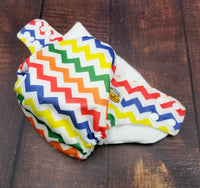 Rainbow Chevron PUL Cloth Diaper