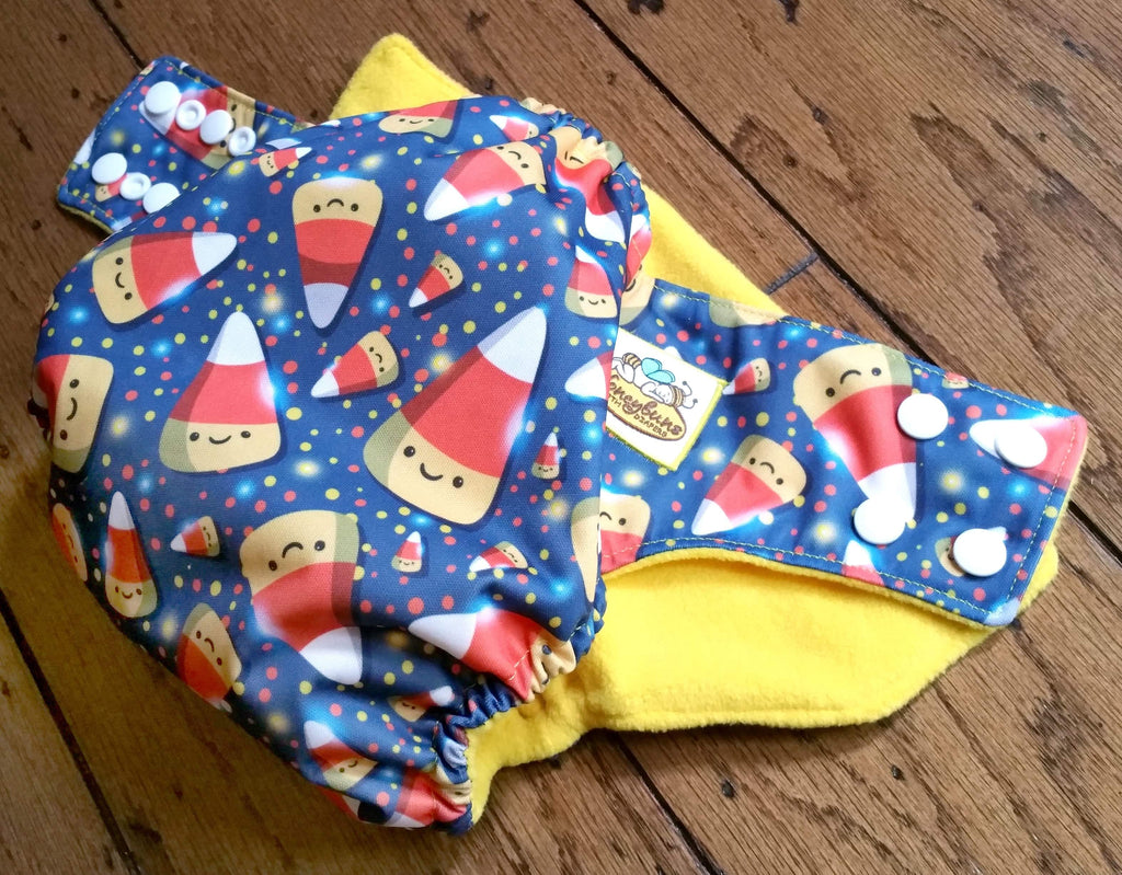 Candy Corn PUL Cloth Diaper