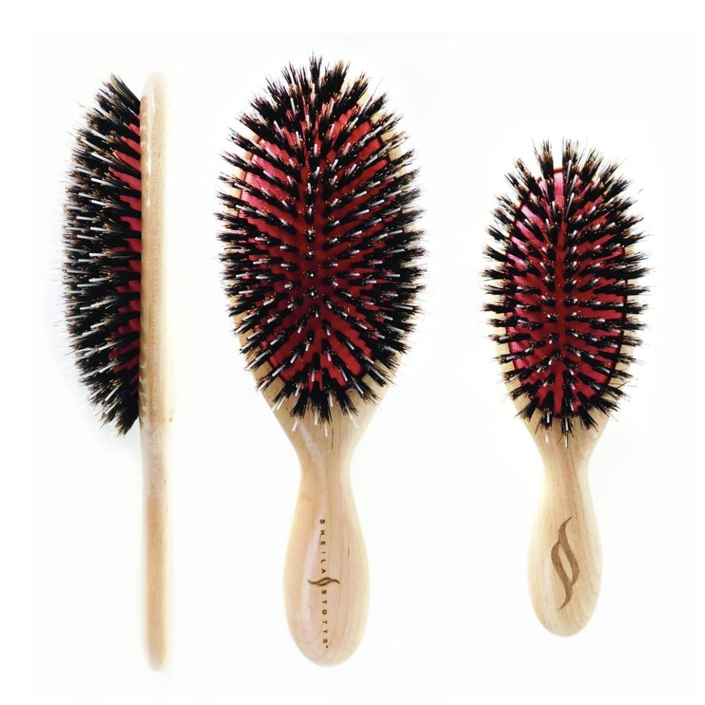 Sheila Stott's Mixed Natural Boar and Nylon Bristle Brushes