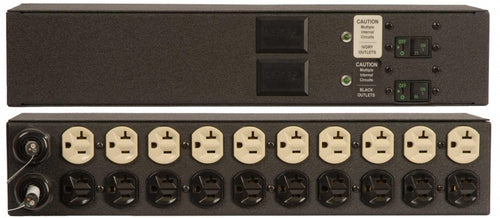 Geist PDU - Basic - 2JR200-152D20DST5 - Basic, Standard, 20A, 120V, Horizontal, (20) NEMA 5-20R, breakered, 15 ft power cords with 5-20P - Part#38195