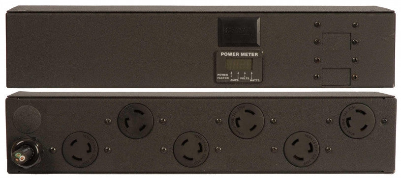 Geist - Basic-PDU- Metered, Standard, 20A, 120V, Horizontal, (6) NEMA L5-20R, 15 ft power cord with 5-20P, Power - Local (A, V, W, PF)