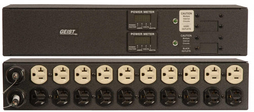 Geist PDU - Basic - 2JRAN202-102D20DST5 - Metered, Standard, 20A, 120V, Horizontal, (20) NEMA 5-20R, 10 ft power cords with 5-20P - Part#16606