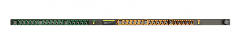 Geist PDU - Basic - PDU - Upgradeable, 30A, 208V, Vertical, (30) Locking IEC C13, (6) Locking IEC C19, breakered, 10 ft power cord with L6-30P