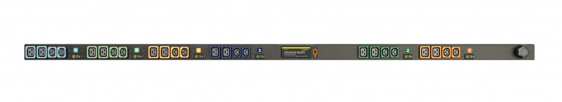 Geist PDU - Basic PDU-Upgradeable, 60A, 208V DELTA, 3 Phase, Vertical, (12) Locking IEC C13, (12) Locking IEC C19, breakered, 10 ft power cord with 3P+E (IP44),
