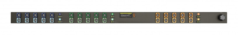 Geist PDU - Basic PDU-Upgradeable, 50A, 208V DELTA, 3 Phase, Vertical, (30) Locking IEC C13, breakered, 10 ft power cord with 3P+E CA,