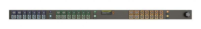 Geist PDU - Basic PDU-Upgradeable, 40A, 230/400V WYE, 3 Phase, Vertical, (30) Locking IEC C13, (12) Locking IEC C19, breakered, 10 ft power cord with 3P+N+E (IP44),