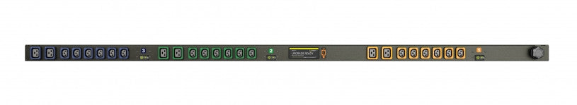Geist PDU - Basic PDU-Upgradeable, 60A, 208V, Vertical, (18) Locking IEC C13, (6) Locking IEC C19, breakered, 10 ft power cord with 2P+E (IP44),