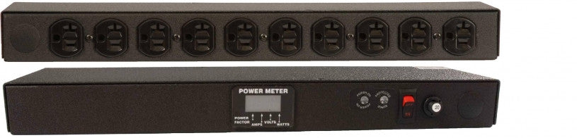 Geist - Basic Surge PDU-Surge, 20A, 120V, Horizontal, (10) NEMA 5-20R, power switch, breakered, 10 ft power cord with L5-20P, Power - Local (A, V, W, PF) Digital RMS Scrolling Power Meter +/- 2% Accuracy with Full Scale 60Hz sine wave input
