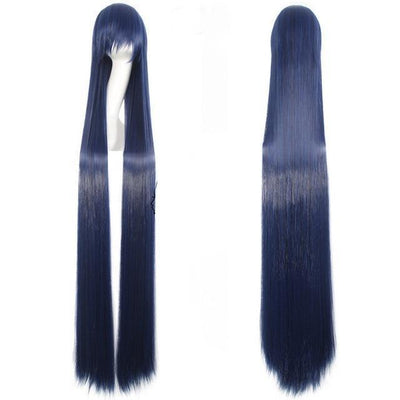 150CM Long Straight Wig Anime Cosplay Costume #JU2437-Dark Blue-Juku Store