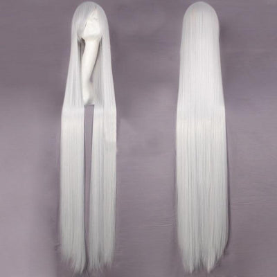 150CM Long Straight Wig Anime Cosplay Costume #JU2437-Silver-Juku Store