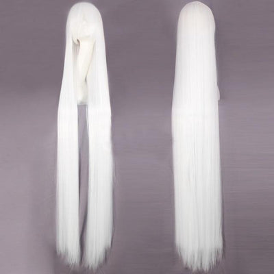 150CM Long Straight Wig Anime Cosplay Costume #JU2437-White-Juku Store