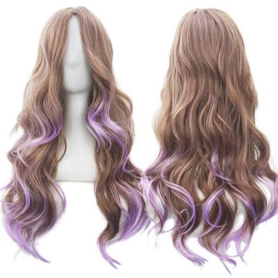 70cm Long Ombre Wigs Pastel Goth Accessories #JU2465-Brown-28 inches-Juku Store