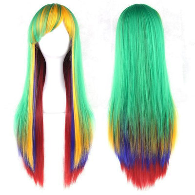 70cm Long Ombre Wigs Pastel Goth Accessories #JU2465-Green-28 inches-Juku Store