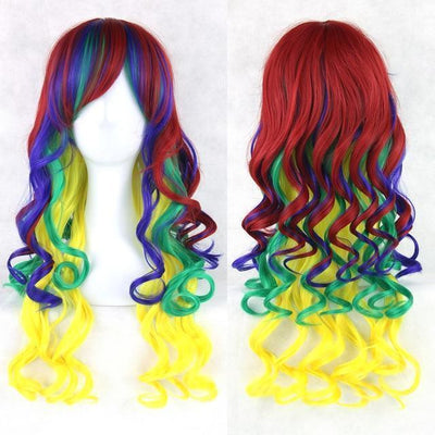 70cm Long Ombre Wigs Pastel Goth Accessories #JU2465-Red Multi-28 inches-Juku Store