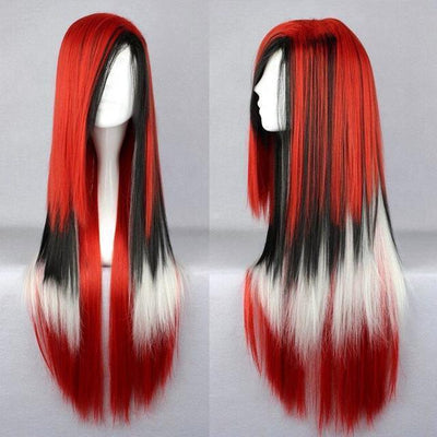70cm Long Ombre Wigs Pastel Goth Accessories #JU2465-Red White-28 inches-Juku Store