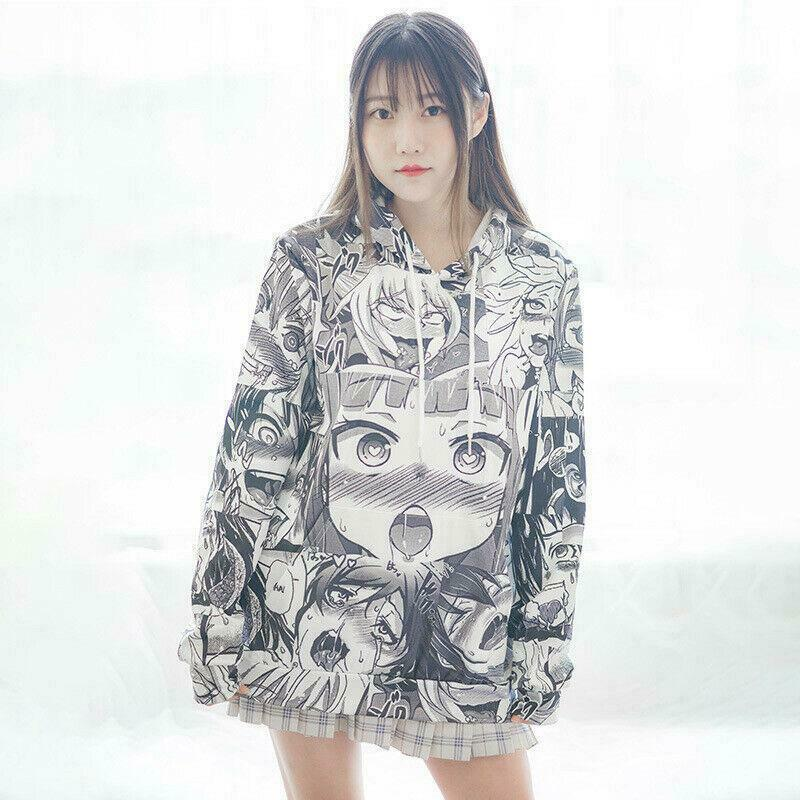 Ahegao Hoodie and Stocking Set Anime Cartoon Jacket #JU2407-Hoodie-L-Juku Store
