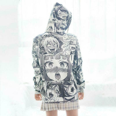 Ahegao Hoodie and Stocking Set Anime Cartoon Jacket #JU2407-Juku Store