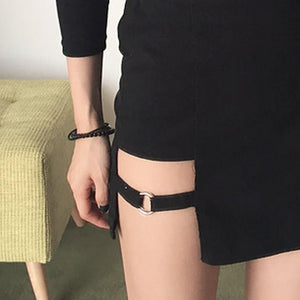 Asymmetrical Black High Waist Mini Skirt #JU1960-Juku Store