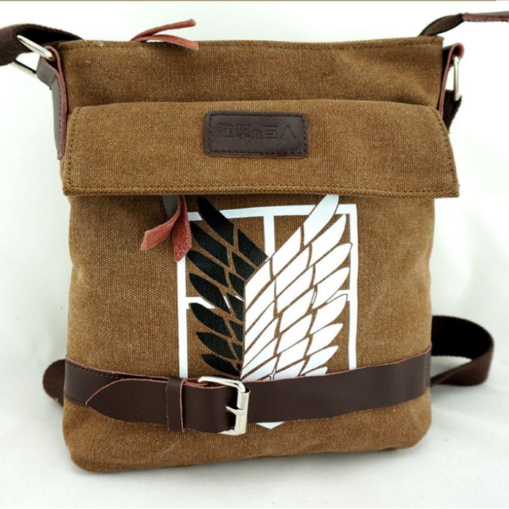 Attack on Titan Canvas Messenger Bag Cosplay Accessory #JU2528