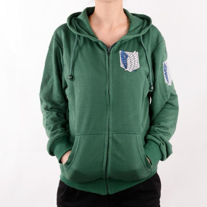 Attack On Titan Cotton Hoodie [2 Colors] #JU1892-Juku Store