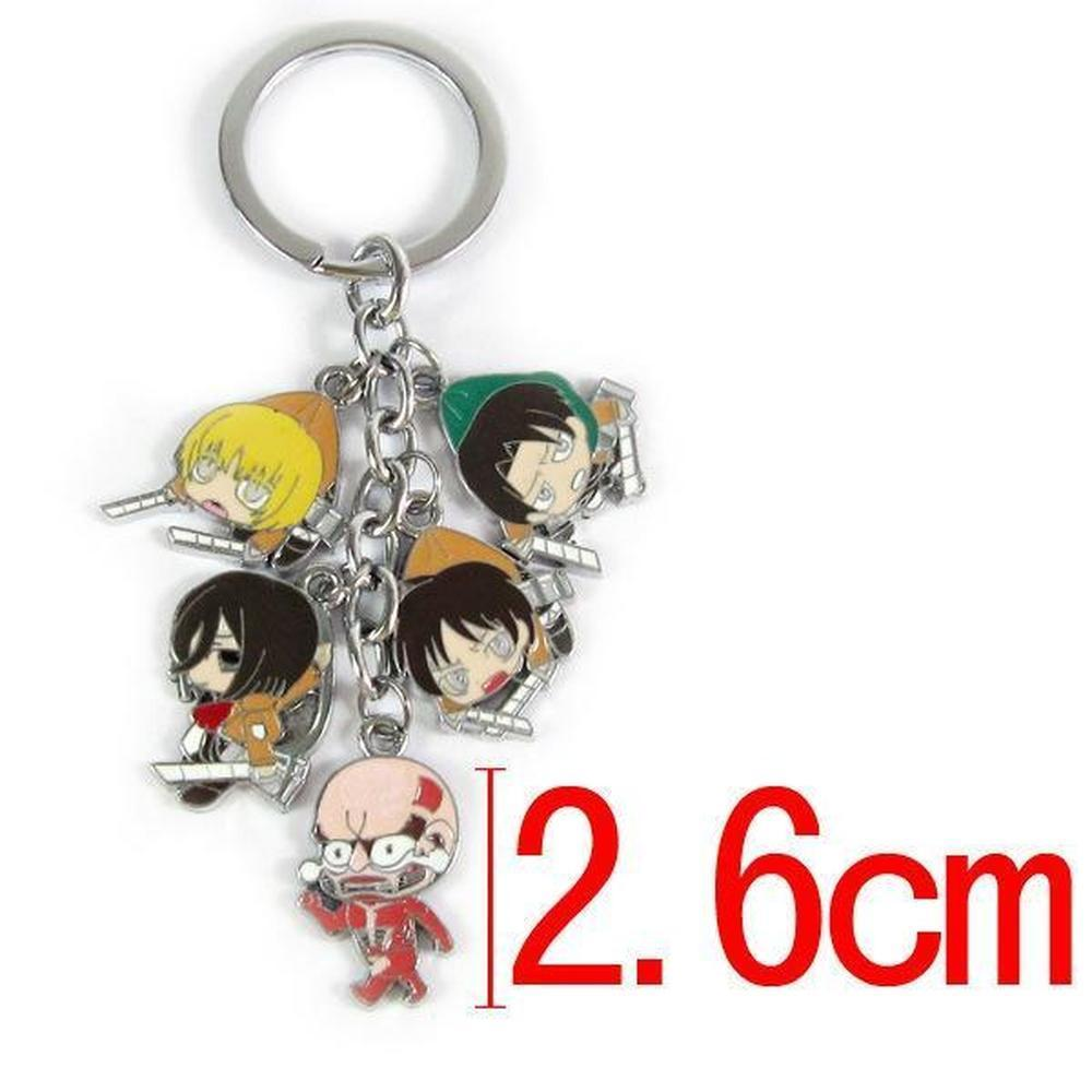 Attack On Titan Metal Keychains [3 Styles] #JU1887-Style 2-Juku Store