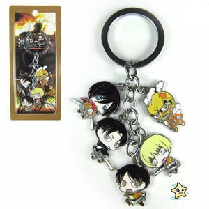 Attack On Titan Metal Keychains [3 Styles] #JU1887-Style 3-Juku Store