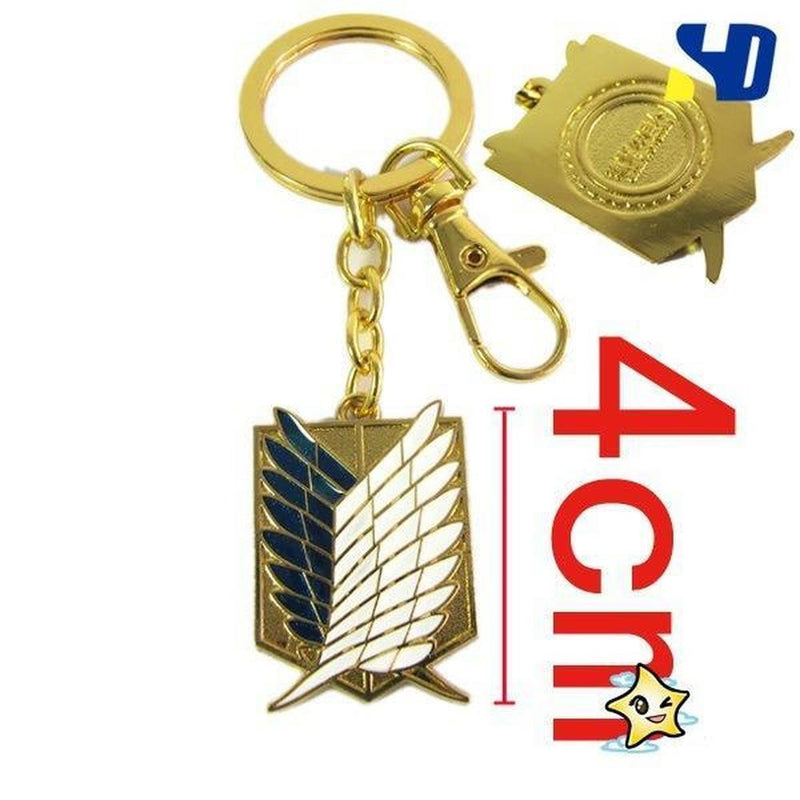 Attack on Titan Wings of Liberty Metal Necklace / Keychain [2 Colors] #JU1890-Juku Store
