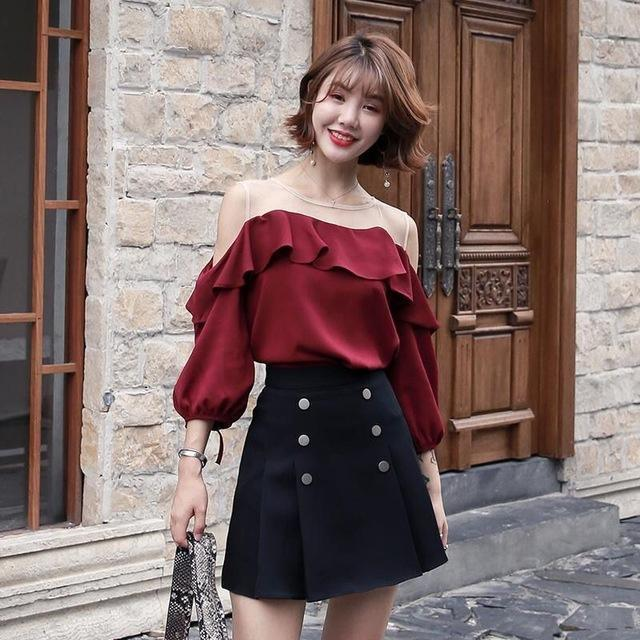 Autumn Knitted Two Piece Sweater and Skirt Korean Outfit #JU2813-Juku Store