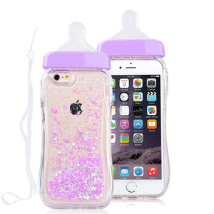 Baby Milk Bottle iPhone Case [3 Colors] #JU1879-Purple-For iPhone 6 6s-Juku Store