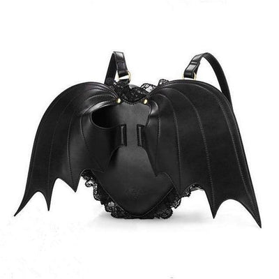 Bat Wing Backpack Little Devil Gothic Bag #JU2762-Juku Store