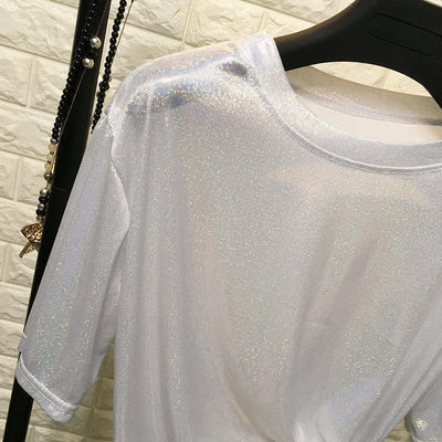 Bright and Shiny Loose T-Shirt Harajuku Top #JU2429-Juku Store