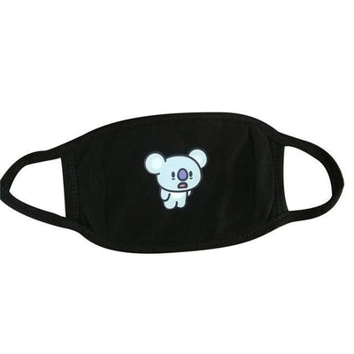 BT21 Dust Proof Face Mask BTS Bangtan Boys [16 Styles] #JU2037-KOYA Black-Juku Store