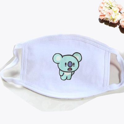 BT21 Dust Proof Face Mask BTS Bangtan Boys [16 Styles] #JU2037-KOYA White-Juku Store