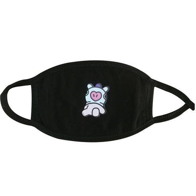 BT21 Dust Proof Face Mask BTS Bangtan Boys [16 Styles] #JU2037-MANG Black-Juku Store