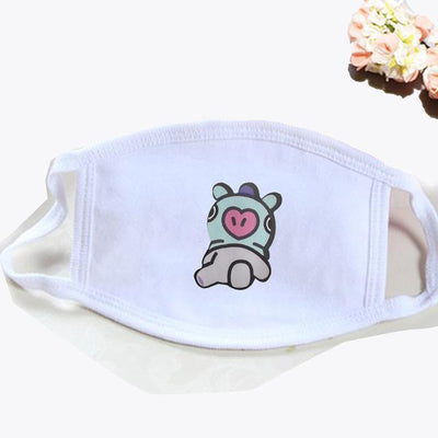 BT21 Dust Proof Face Mask BTS Bangtan Boys [16 Styles] #JU2037-MANG White-Juku Store