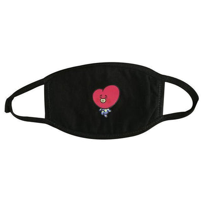 BT21 Dust Proof Face Mask BTS Bangtan Boys [16 Styles] #JU2037-TATA Black-Juku Store