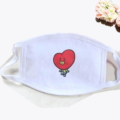 BT21 Dust Proof Face Mask BTS Bangtan Boys [16 Styles] #JU2037-TATA White-Juku Store