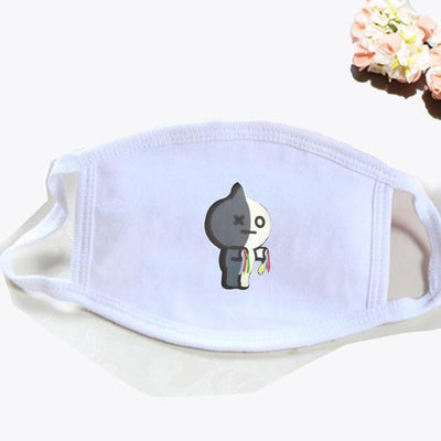 BT21 Dust Proof Face Mask BTS Bangtan Boys [16 Styles] #JU2037-VAN White-Juku Store